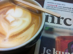 Koffie en krant
