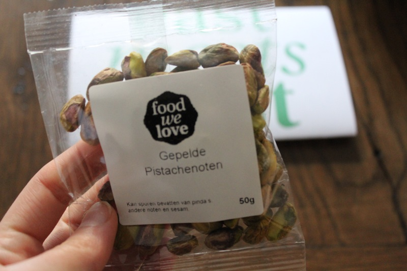 Food We love box gepelde pistachenoten